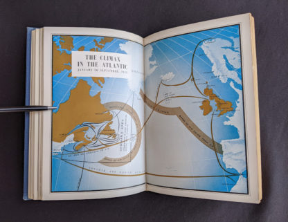 Colour image inside a 1950 copy of The Far Distant Ships an official account of Canadian naval ships in WW II -1st Edition