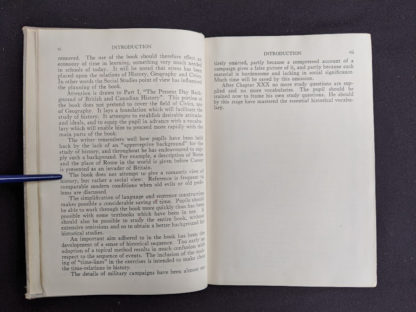 Introduction page 2 & 3 of 3 in a 1937 copy of A History of Britain by H. B. King - macmillan company of canada ltd
