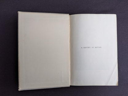 Pre title in a 1937 copy of A History of Britain by H. B. King - macmillan company of canada ltd