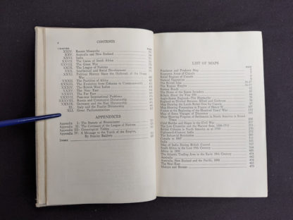 Table of Contents page 2 of 2 in a 1937 copy of A History of Britain by H. B. King - macmillan company of canada ltd