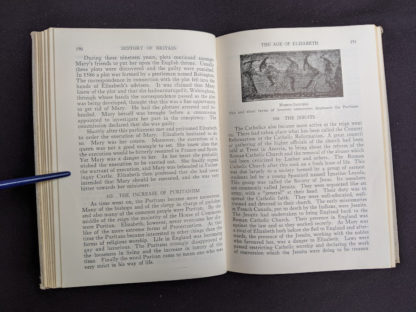 The Age of Elizabeth in a 1937 copy of A History of Britain by H. B. King - macmillan company of canada ltd