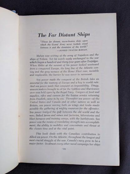 The Far Distant Ships an official account of Canadian naval ships in WW II - 1950 1st Edition - First Page