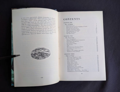 The Far Distant Ships an official account of Canadian naval ships in WW II - 1950 1st Edition - First page of Contents