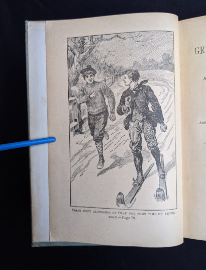image adjascent to the Title page inside a 1890s circa copy of To Greenland and the Pole by Gordon Staples