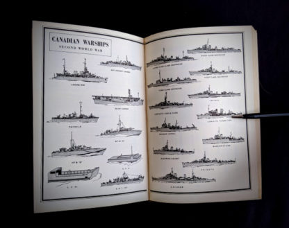 images of the Canadian War ships in the second world war inside a 1950 copy of The Far Distant Ships an official account of Canadian naval ships in WW II - 1st Edition