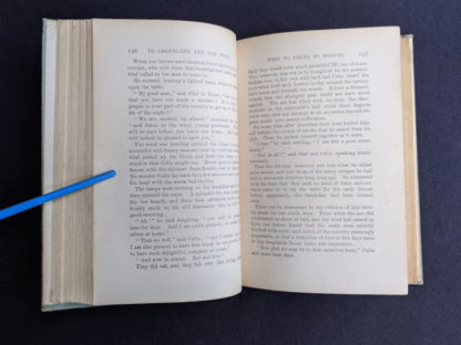 page 136 and 137 inside a copy of To Greenland and the Pole by Gordon Staples - 1890s circa