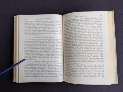 page 378 and 379 in a 1937 copy of A History of Britain by H. B. King - macmillan company of canada ltd
