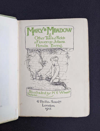 1915 Marys Meadow and Other Tales of Field Flowers by Juliana Horatia Ewing -title page