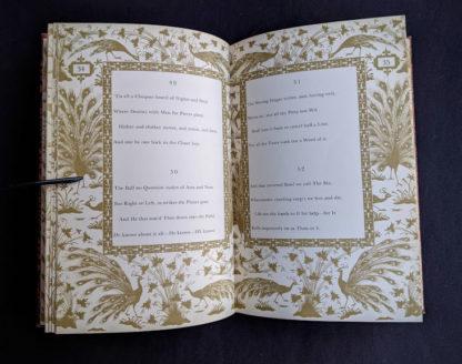 1947 copy of Rubaiyat of Omar Khayyam - Random House - page 34 and 35