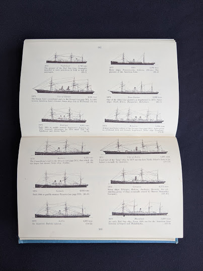 Appendix A - drawings by J. H. Isherwood of ships -1955 copy of North Atlantic Seaway - an illustrated history of the passenger services linking the old world with the new