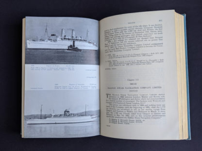 Chapter 113 inside a 1955 copy of North Atlantic Seaway - an illustrated history of the passenger services linking the old world with the new