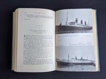 Chapter 142 inside a 1955 copy of North Atlantic Seaway - an illustrated history of the passenger services linking the old world with the new