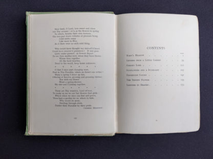 Contents page inside a 1915 copy of Marys Meadow and Other Tales of Field Flowers by Juliana Horatia Ewing