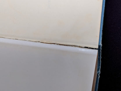 Full seam split inside a 1955 copy of North Atlantic Seaway - an illustrated history of the passenger services linking the old world with the new