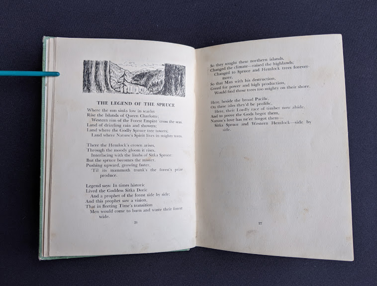 Legend of the Spruce - 1943 copy of Rhymes of a Lumberjack by Robert E. Swanson