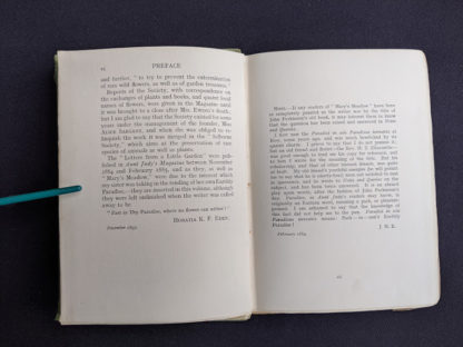 Preface page 2 of 2 inside a 1915 copy of Marys Meadow and Other Tales of Field Flowers by Juliana Horatia Ewing