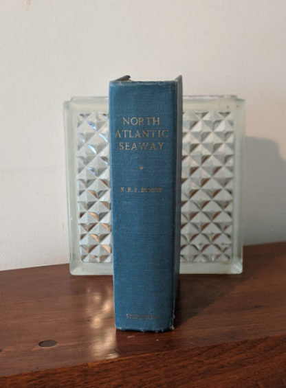 Spine view of a 1955 copy of North Atlantic Seaway - an illustrated history of the passenger services linking the old world with the new