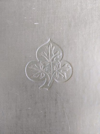 blindstamp on the front cover of a 1928 limited edition of Montreal 1640-1672 - From the French of Collier De Casson