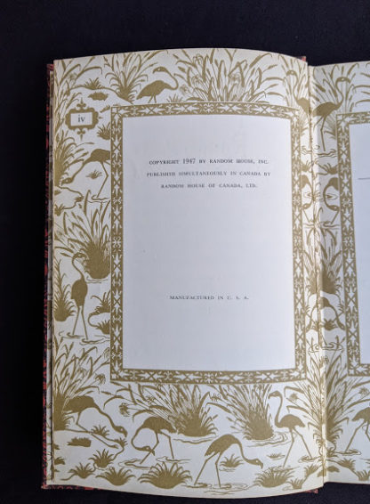 copyright page inside a 1947 copy of Rubaiyat of Omar Khayyam - Random House