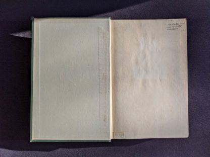 front endpaper and pastedown inside a 1928 limited edition of Montreal 1640-1672 - From the French of Collier De Casson