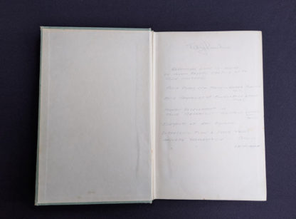 front endpaper and pastedown inside a 1948 copy of Hydraulics by George Russell - 5th edition