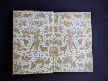 front pastedown and endpaper inside a 1947 copy of Rubaiyat of Omar Khayyam - Random House
