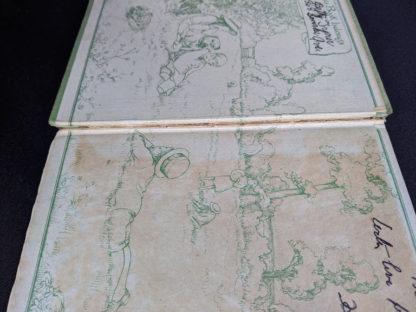 full hinge split inside a 1915 copy of Marys Meadow and Other Tales of Field Flowers by Juliana Horatia Ewing
