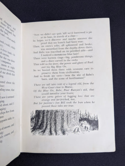 illustration by Bert Bushell in a 1943 copy of Rhymes of a Lumberjack by Robert E. Swanson