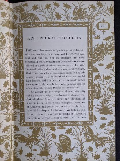 introduction inside a 1947 copy of Rubaiyat of Omar Khayyam - Random House