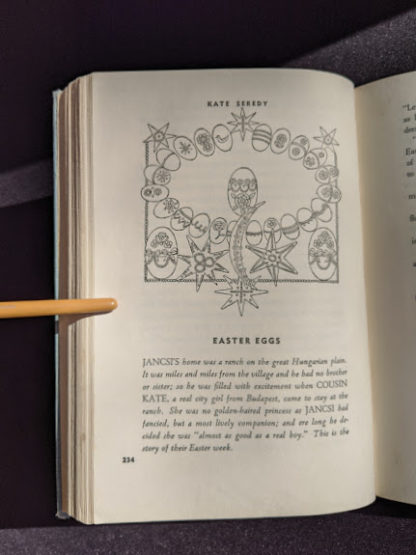 1952 copy of The Easter Book Of Legends And Stories - fourth Edition -illustrated by Pamela Bianco - Easter Eggs by Kate Seredy