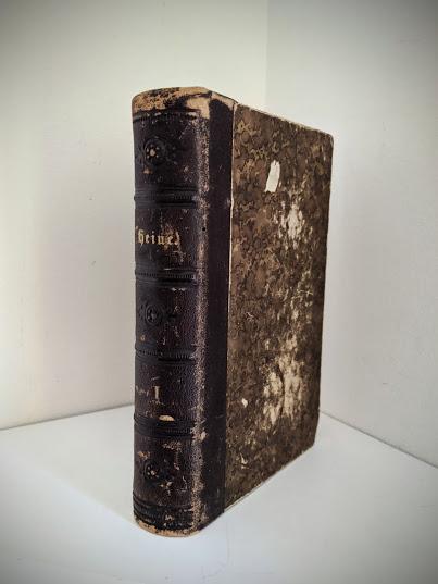 1870 Sämtliche Werke - Heinrich Heine - German Book - Spine View