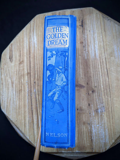 1915 The Golden Dream By R. M. Ballantyne - spine view
