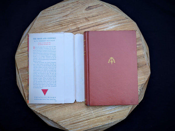 1943 The Moon and Sixpence by W. Somerset Maugham - Photo-Play Edition with dustjacket