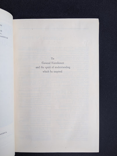 Dedication page inside a 1946 copy of My Three Years With Eisenhower By Harry C Butcher