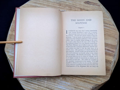 First Chapter inside a 1943 copy of The Moon and Sixpence by W. Somerset Maugham - Photo-Play Edition
