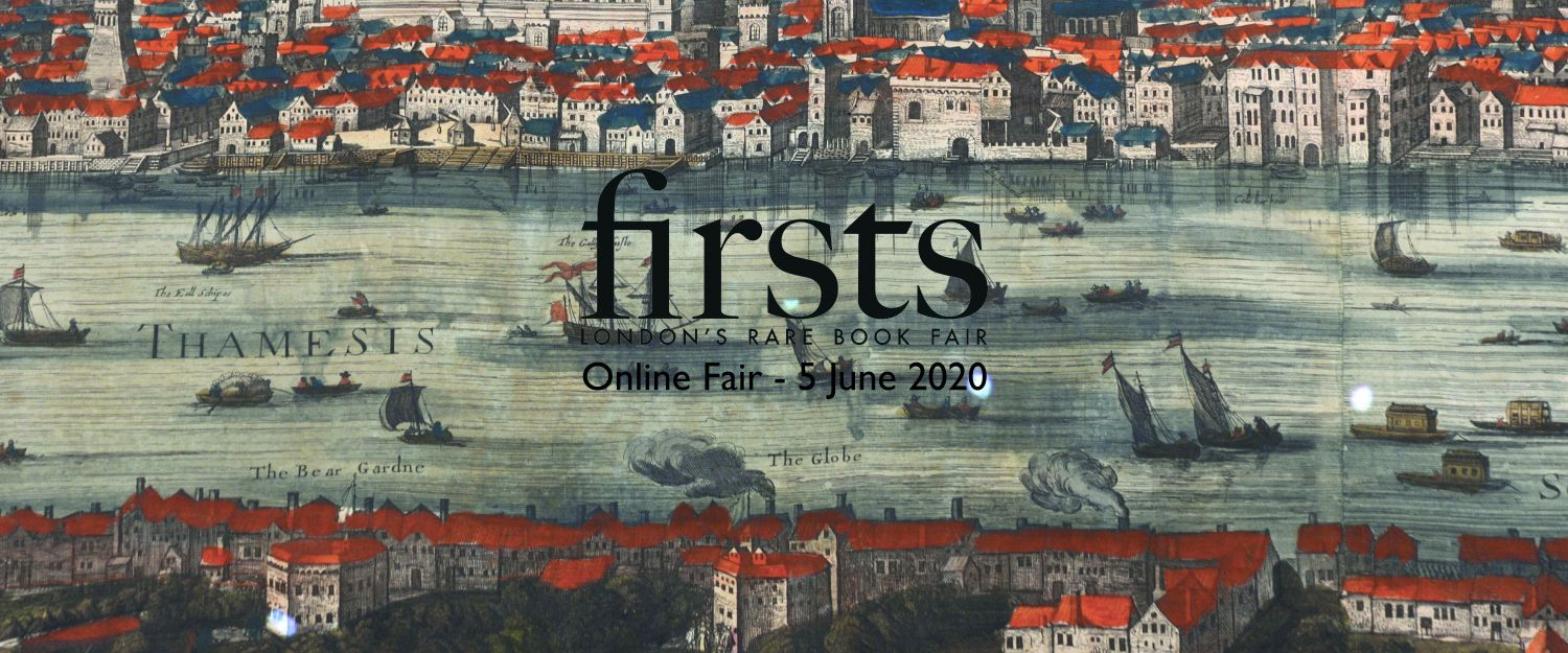 Firsts Londons Rare Book Fair 2020 Poster Virtual Only