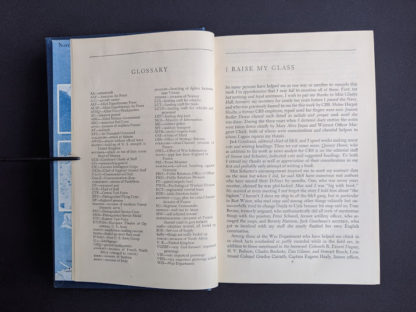 Glossary page inside a 1946 copy of My Three Years With Eisenhower By Harry C Butcher