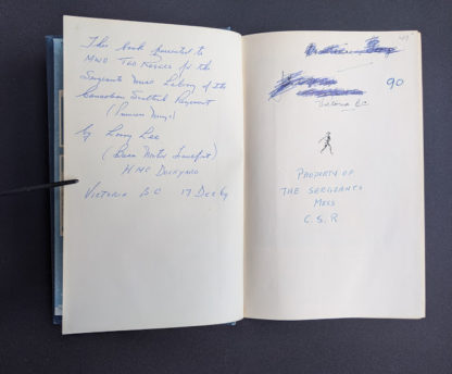 Military related Annotation inside a 1946 copy of My Three Years With Eisenhower By Harry C Butcher
