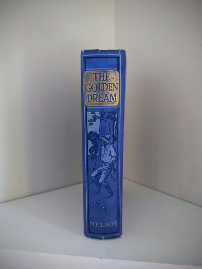 Spine view - 1915 The Golden Dream By R. M. Ballantyne