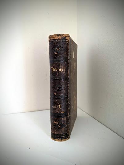 Spine view of a 1870 copy of Sämtliche Werke - Heinrich Heine - German Book