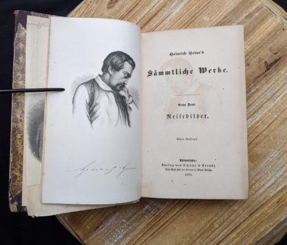 Title page for a 1870 copy of Sämtliche Werke - Heinrich Heine - German Book