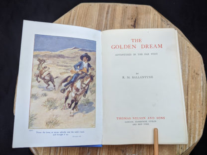 Title page inside a 1915 copy of The Golden Dream By R. M. Ballantyne