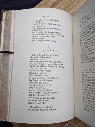 a page inside a 1870 copy of Sämtliche Werke - Heinrich Heine - German Book