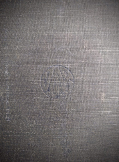 blindstamp on the front cover of a 1948 copy of Steam, Air And Gas Power by Severns And Degler 4th Edition