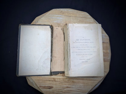 damage to spine inside a 1895 copy of The Peoples Common Sense Medical Adviser by R.V. Pierce M.D.