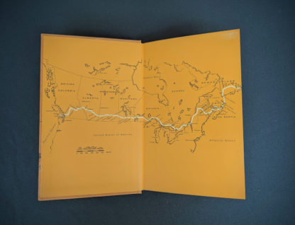 front pastedown and endpaper inside 1966 The Road Across Canada by Edward McCourt - 2nd Printing