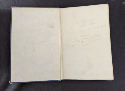 front pastedown and endpaper inside a 1948 copy of Steam, Air And Gas Power by Severns And Degler 4th Edition
