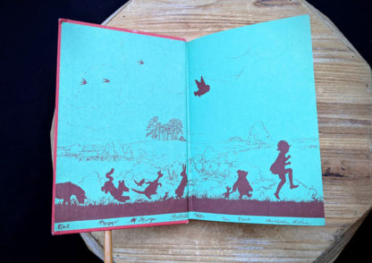 front pastedown and endpaper inside a 1961 The House at Pooh Corner by A.A. Milne