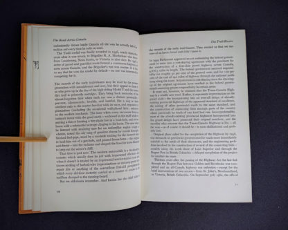 page 10 and 11 inside a 1966 copy of The Road Across Canada by Edward McCourt - 2nd Printing