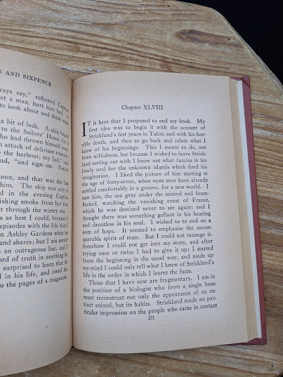 page 251 inside a 1943 copy of The Moon and Sixpence by W. Somerset Maugham - Photo-Play Edition